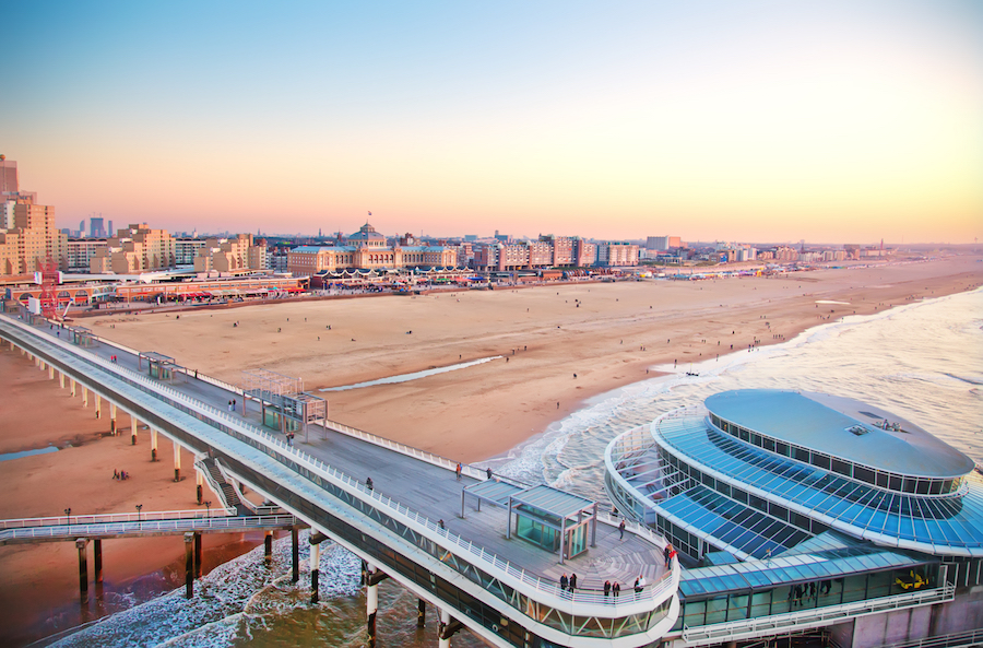 Scheveningen beach front The Hague